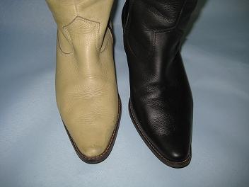 ブーツ染め変え